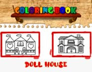 Doll House Coloring Book