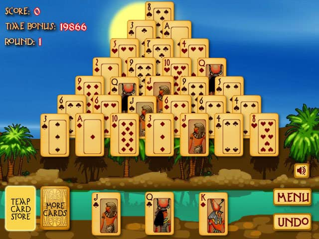 Pyramid Solitaire Ancient Egypt - Free Play & No Download  FunnyGames